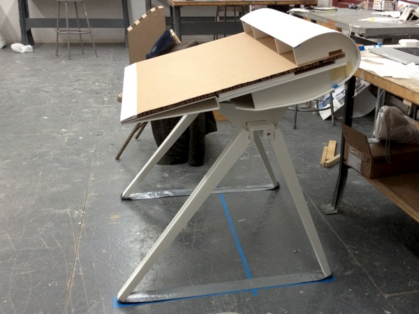 Weird angle of the table