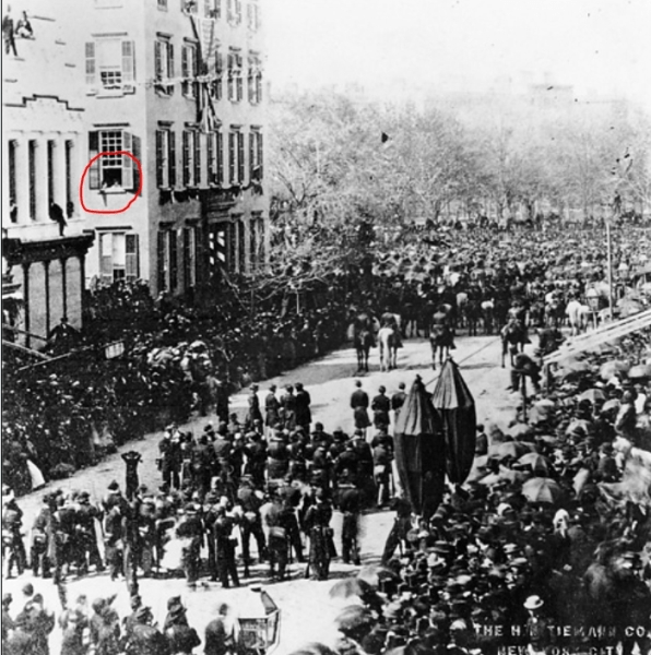T Roosevelt at Lincoln Funeral
