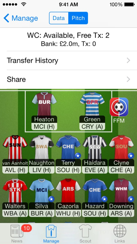 Fantasy Football Manager - FFM for FPL iPhone