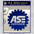 ASE Certified Mechanic Decal Sticker CR Blue Vinyl
