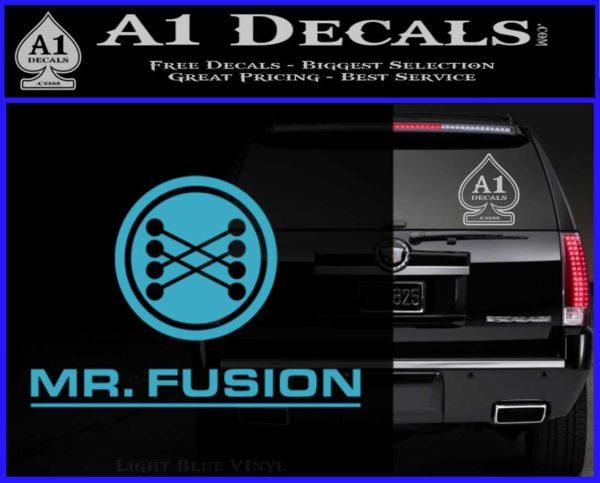 mr fusion back to the future decal sticker a1 decals. Black Bedroom Furniture Sets. Home Design Ideas