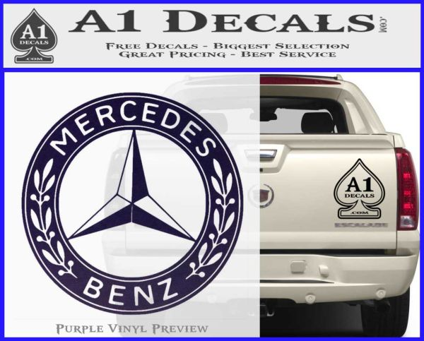 Mercedes benz c2 decal sticker a1 decals for A mercedes benz product sticker