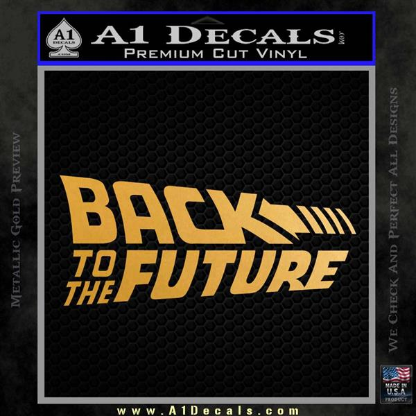 back to the future title logo decal sticker a1 decals. Black Bedroom Furniture Sets. Home Design Ideas