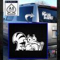 Ice Age Scrat Decal Sticker D1 White Emblem 120x120