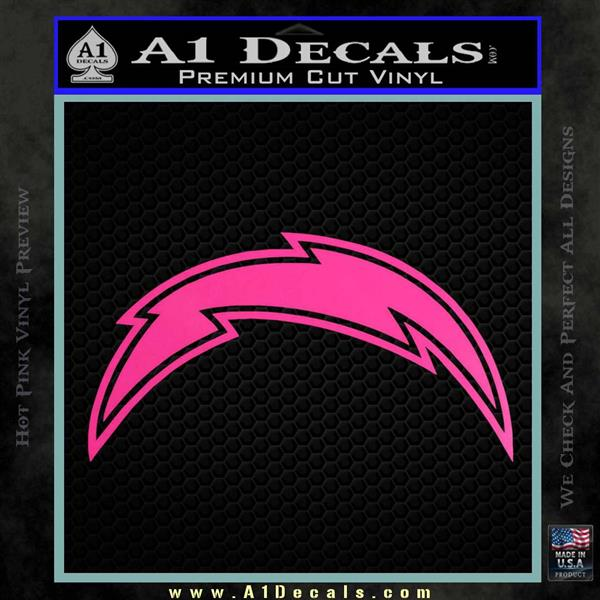 San Diego Chargers Decals: San Diego Chargers NFL Bolt Decal Sticker » A1 Decals