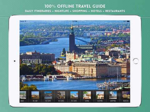 Stockholm Travel Guide with Offline City Street and Metro Maps iPad