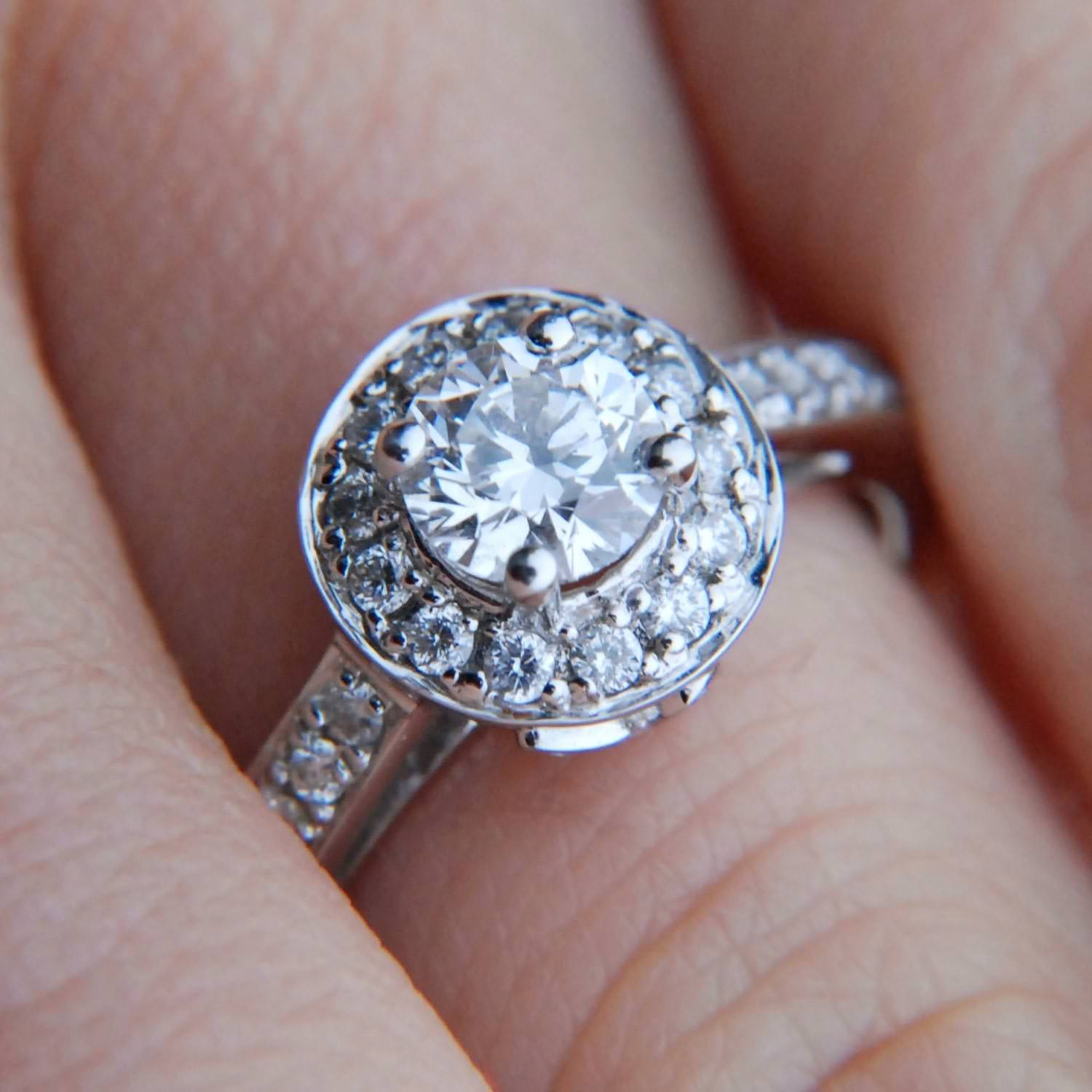 what is a halo ring halo wedding ring This ring style offers a whole host of options for creating big diamond looks as well as ways to personalize and customize your engagement ring