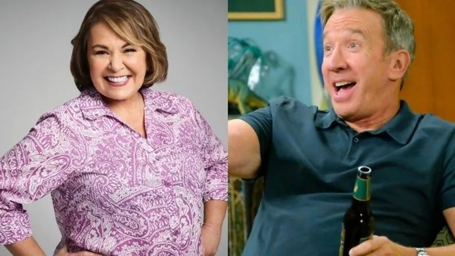 Tim Allen speaks out about Roseanne Barr firing   That s not the     Tim Allen  right  broke his silence on Roseanne Barr s firing from ABC  after she