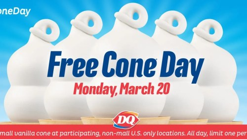 Medium Of Free Cone Day Dairy Queen 2017