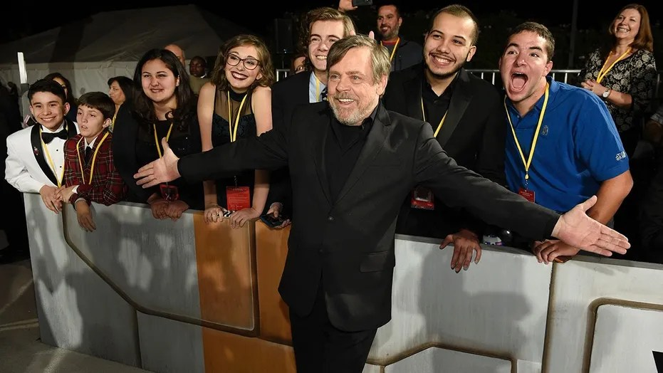 Make A Wish sends 7 kids to meet Star Wars stars at premiere   Fox News  Star Wars  The Last Jedi  cast member Mark Hamill poses with special  guests
