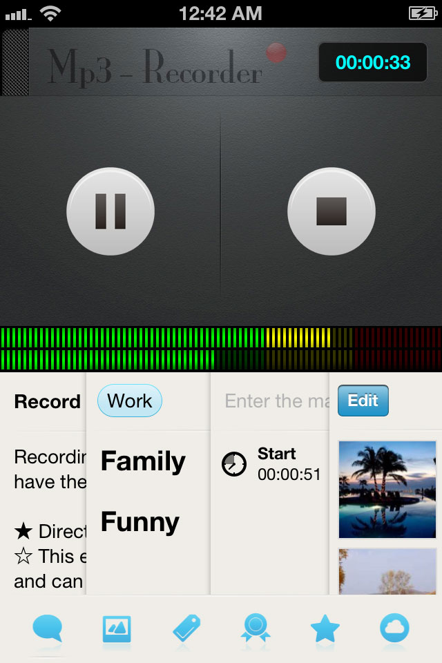 MP3-Recorder iPhone