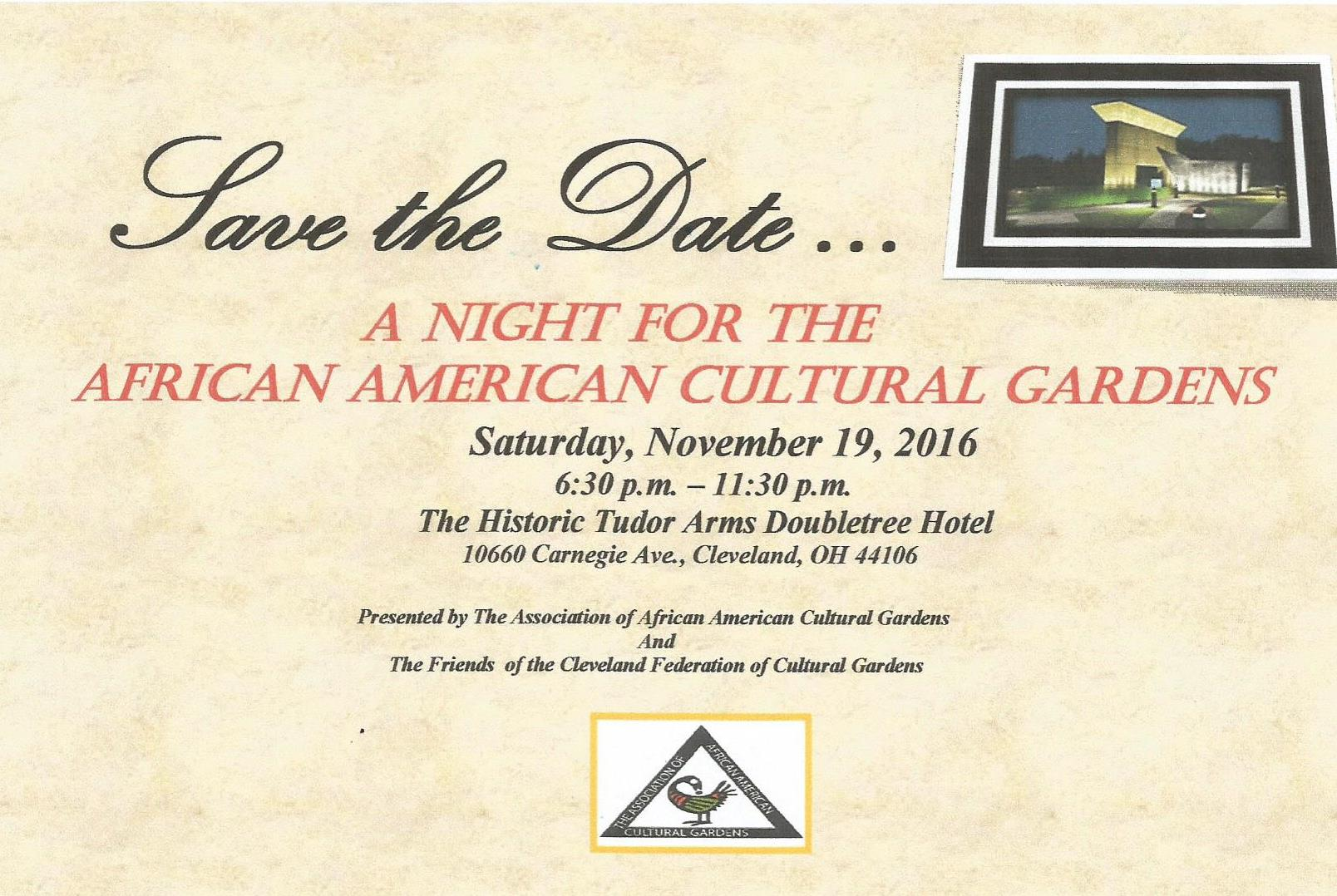 A Night For The African American Cultural Gardens