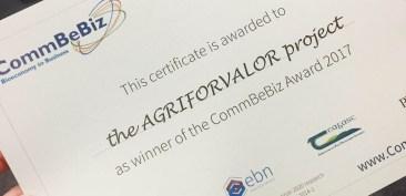 Premio CommBeBiz 2017 agriforvalor
