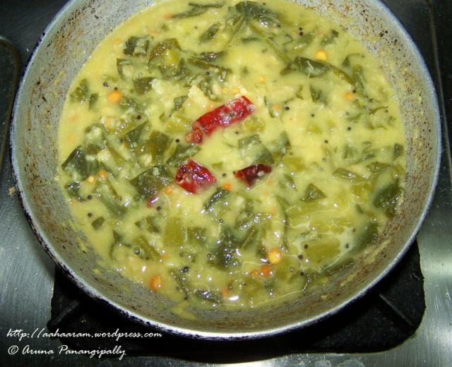 Kanda Bachali Koora (Yam and Malabar Spinach Curry/Suran-Mayalu ki Bhaji) – 1