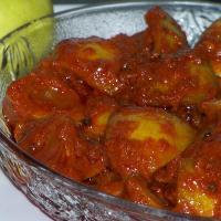 Nimmakaya Uragaya - 1 (Andhra Lemon Pickle with Oil)