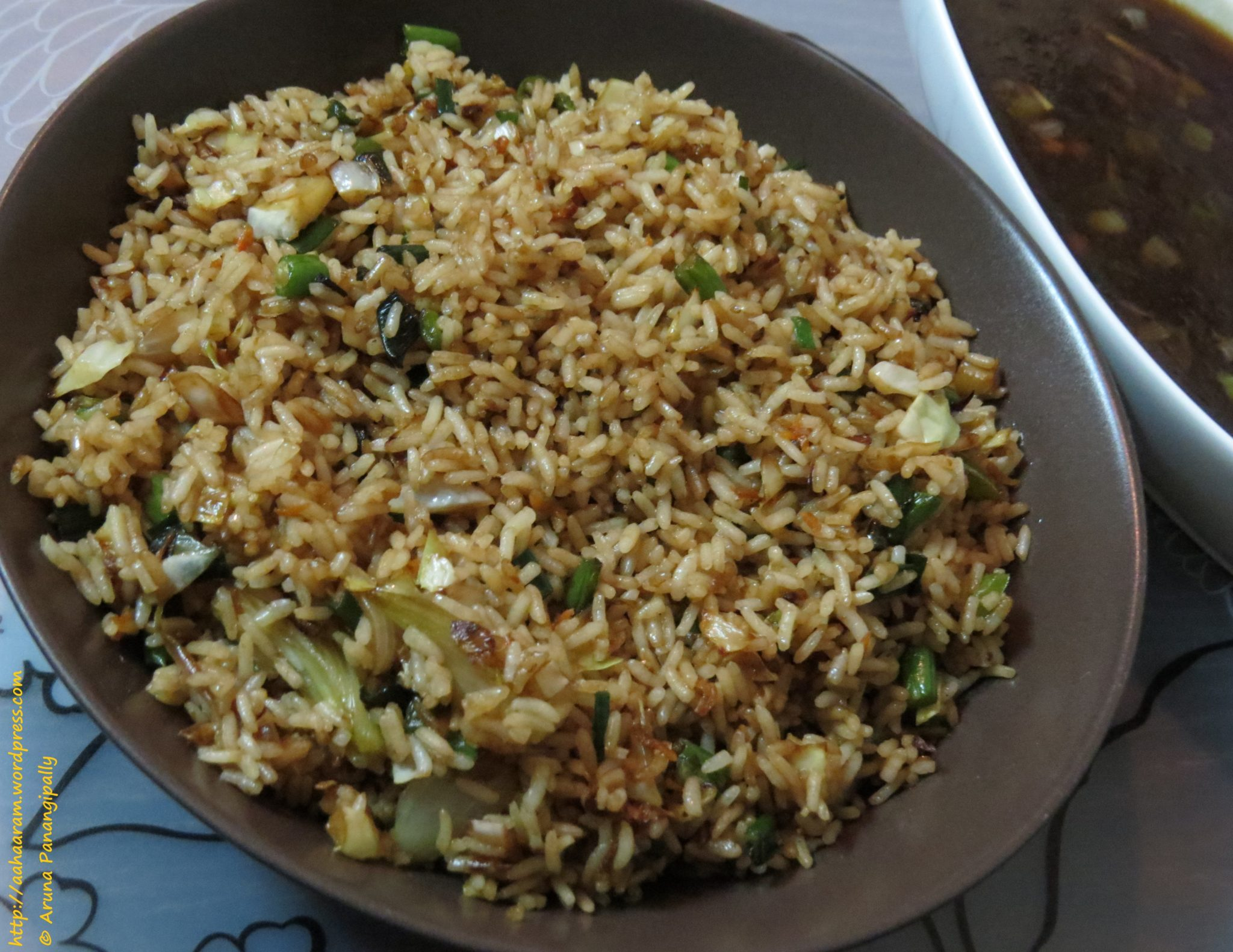 Vegetarian Chinese Fried Rice or Vegetable Fried Rice | ãhãram