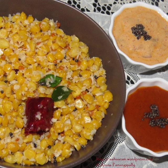 Senaga Pappu Kobbari Koora (Bengal Gram and Coconut Curry)