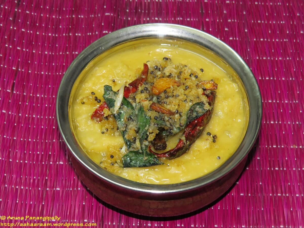 Mango Dal - Konkani Style (Ambe Daali or Lentils with Raw Mango)