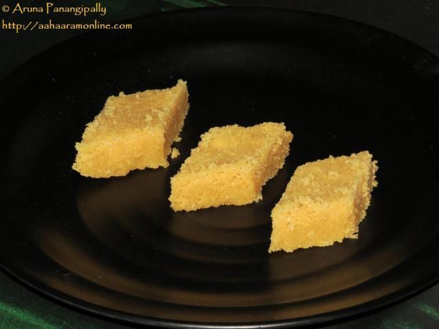 Mysore Pak - The Firm, Crunchy, Porous Kind