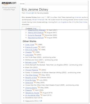 Eric Jerome Dickey Wikipedia  Page on Amazon