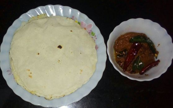 Gongura Pacchadi and Rice Roti