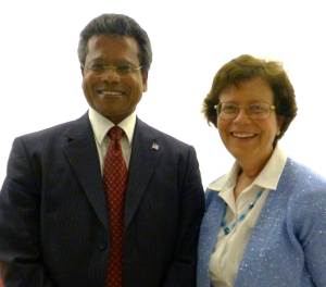 Dr. Patrick Mendis recently met with previous ANA award recipient Dr. Rebecca Blank, U.S. Deputy Secretary of Commerce, at a CLA-sponsored event in Washington, DC. (Contributed photo)