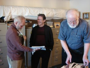 Nicholas Tapp, Ph.D., center, at the Hmong Cultural Center in 2010.