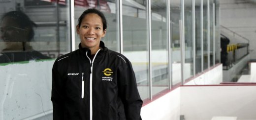 Julie Chu, head coach of the Concordia Stingers women's hockey program of Concordia University in Quebec. (Concordia photo)