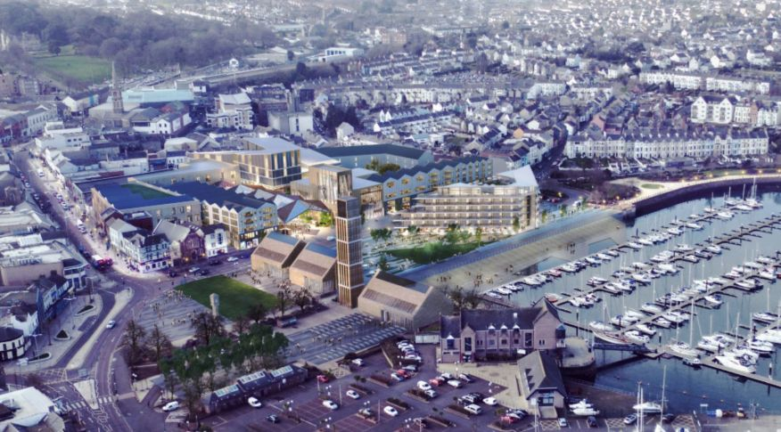 re-development of Queen's Parade in Bangor