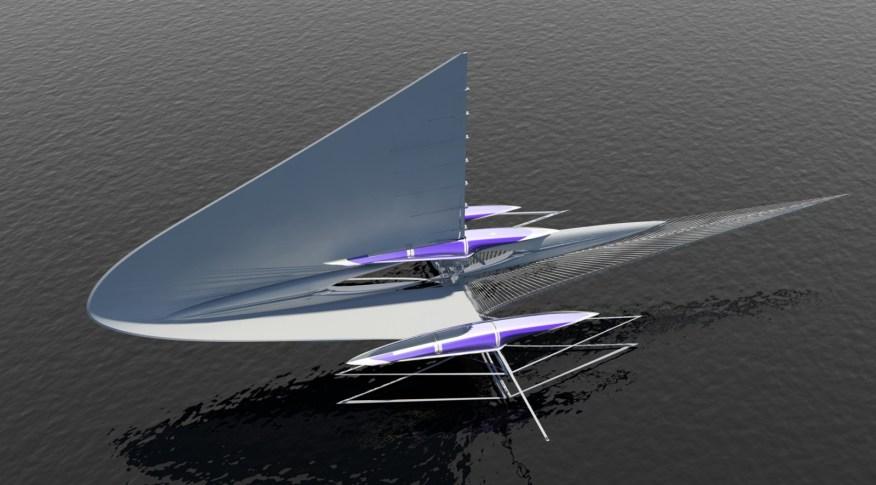 Fresnel Hydrofoil Trimaran