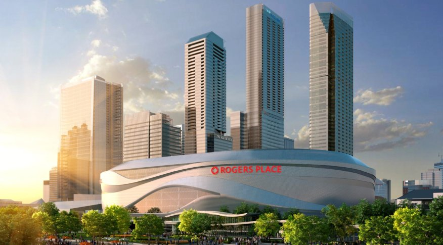 Rogers Place Arena in Edmonton