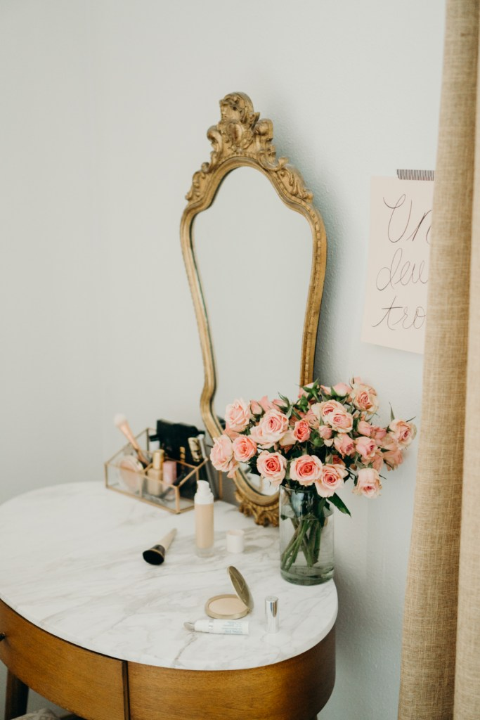 Makeup Vanity, Neutral Colored Home