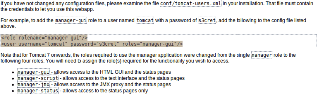 How to Access Management Console of Tomcat