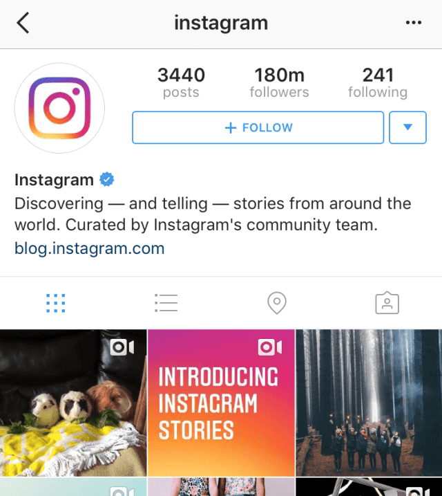 instagram's instagram account
