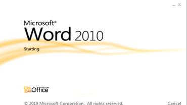 Microsoft Word 2010.