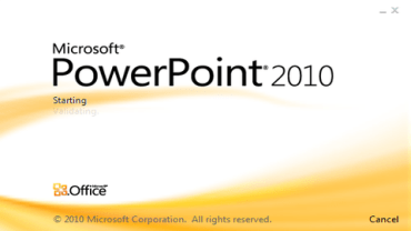 PowerPoint 2010.