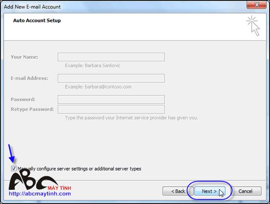 Microsoft Outlook 2007.