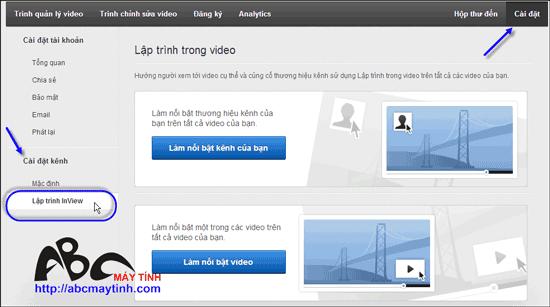 Chèn logo bản quyền vào video của bạn ở YouTube