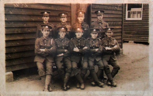 Oldham Battalion (Pals) Manchester Regiment. And one with my Grandfather's section, George Madden, seated in the centre of the front row. I think both pictures were taken in 1914.