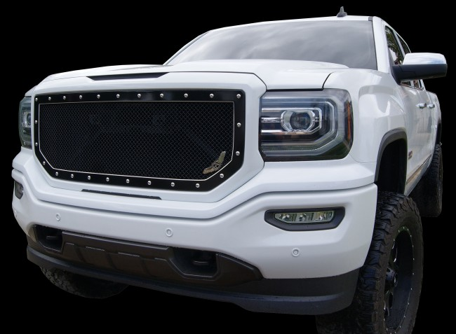 2016 2017 GMC Sierra SLT SLE 1500 A I MACHINED Grille Insert Grilles     Ablaze Grilles 2016 2017 GMC Sierra SLT SLE 1500 A I MACHINED Grille Insert