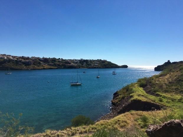 The anchorage in San Carlos