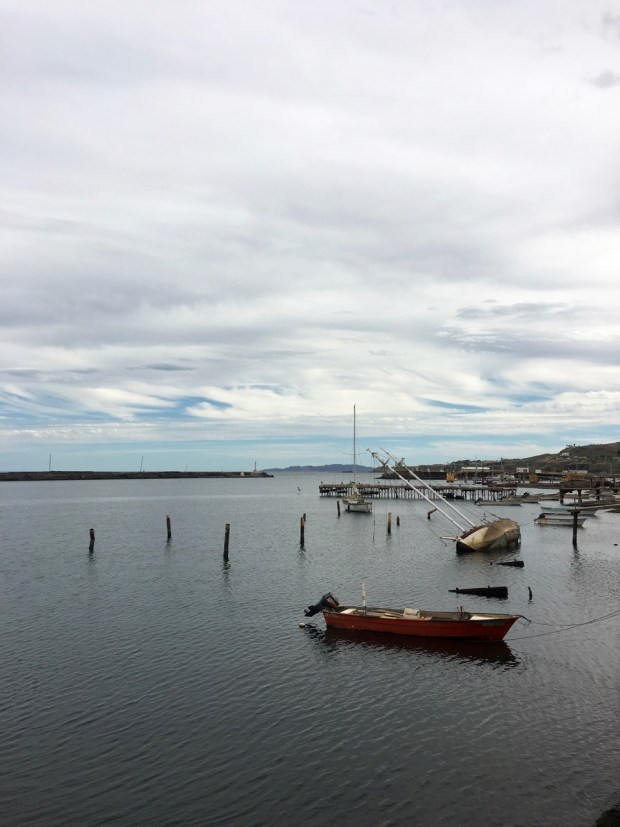 The aftermath of Hurricane Odile is still evident in the harbor
