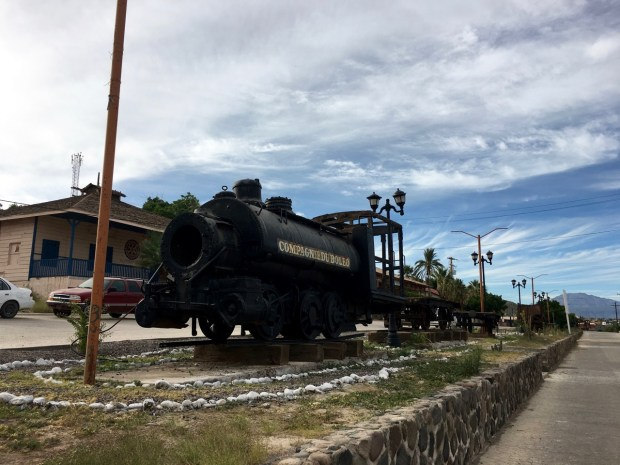 The old mining equipment, a major part of the town's history, has been preserved in static displays throughout the town