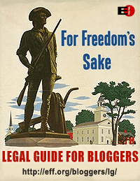 Read EFF's Legal Guide for Bloggers