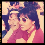 My then fiancee, now my husband of 30 years. Taken on the stage of Sinulog 1985 celebration