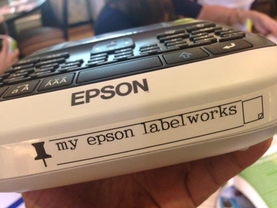 my epson labelworks