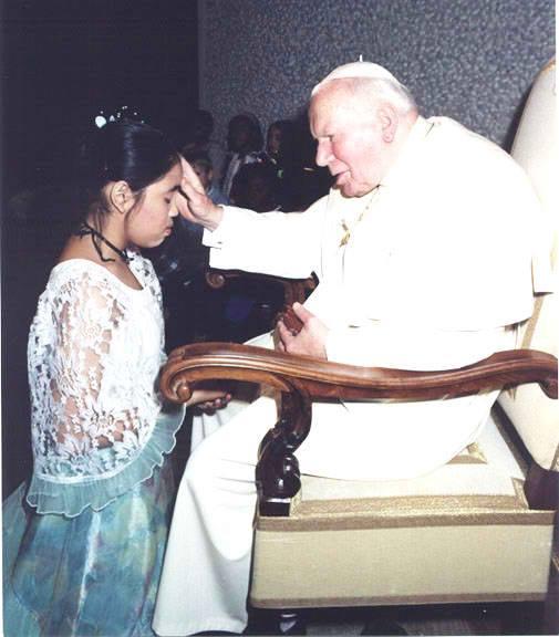 my daughter and pope john paul ii