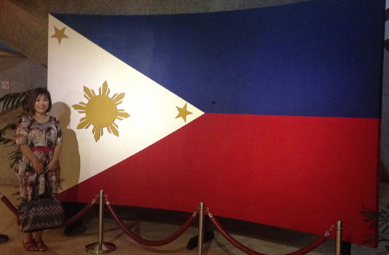 me and the Philippine flag