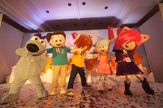 The KidZania RightZkeepers—Bache, Urbano, Beebop, Vita and Chika. They are the guardians assigned to protect children's rights—the right to be, the right to know, to care, to create, to share, to play and the most important one of all, the right to be a child.
