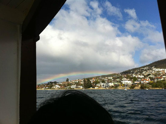 rainbow in tasmania
